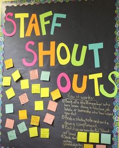 Teacher wellbeing is important too! Staff Shout Outs - morale boosters for teachers. Teacher wellbeing is important too! Staff Shout Outs - morale boosters for teachers. Employee Appreciation Gifts, Teacher Appreciation Week, Volunteer Appreciation, Volunteer Gifts, Principal Appreciation, Staff Gifts, Teacher Thank You, Teacher Gifts, Teacher Shout Out Board