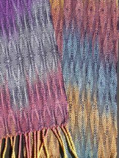 WEAVING silk/rayon painted warp cotten weft
