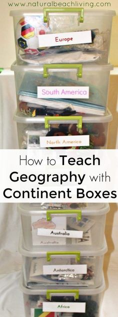 TEACH YOUR CHILD TO READ - How to Teach Geography with Continent Boxes, DIY Montessori Continent Boxes, A multi-sensory approach to learning with kids, Multi-Culture ideas with kids Super Effective Program Teaches Children Of All Ages To Read. Geography Activities, Geography For Kids, Geography Lessons, Teaching Geography, World Geography, Teaching Kids, Continents Activities, Hands On Geography, Geography Classroom