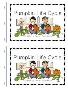 "This FREE download consists of a Pumpkin Life Cycle predictable text book. Your students will read the sight words ""I"", ""can"", ""see"", and ""the"" as they learn about the pumpkin life cycle. Full color illustrations and bolded words help students decode the content words ""seed"", ""sprout"", ""plant"", ""vine"", ""flower"", ""green pumpkin"", ""orange pumpkin"", and ""pumpkin pie"".This book is ideal for a Kindergarten or first grade pumpkin unit or a take home reading book to share what you are learning in…"