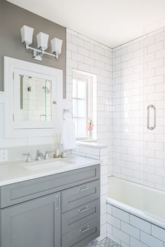 Small Bathroom Remodel Subway Tile blue and white bathroom bathroom victorian with black white