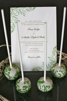 Wedding Invitation Cake Pops