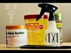Curly wash n go