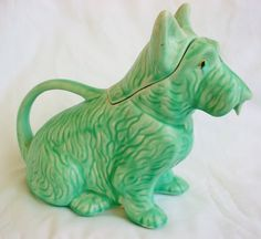 "SCOTTIE DOG POTTERY TEAPOT VINTAGE ""DOGGY"" MADE IN ENGLAND"