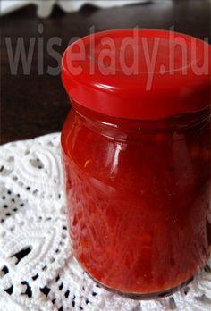 Anya főztje: Paprikakrém télire Ketchup, Salsa, Food And Drink, Canning, Drinks, Decor, Cook, Red Peppers, Dekoration