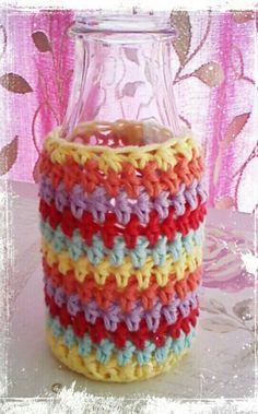 Chic crochet bottle