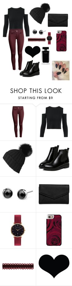 """""""Maroon + black outfit"""" by cheleniak ❤ liked on Polyvore featuring Black, WithChic, LULUS, Abbott Lyon, Casetify and Narciso Rodriguez"""