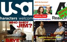 Please write to USA Network and ask them to pick up The Glades http://www.usanetwork.com/feedback
