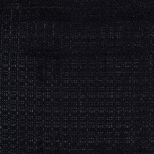 Black Tweed-Like Cotton-Polyester Woven