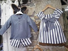 Boy Girl Twin Outfits, Twin Baby Clothes, Boy Girl Twins, Girls, Baby Girl Dress Patterns, Baby Dress, Eve Children, Matching Family Outfits, Kids Fashion