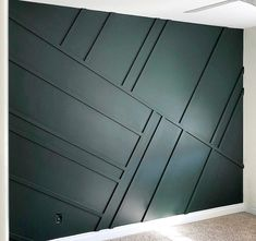 Angela Rose Home Wall treatment painted in a deep turquoise like the dentist office walls Wood Wall Design, Office Wall Design, Office Walls, Paneling Walls, Wall Panelling, Essex Green, Wall Cladding Interior, Wall Trim, Wall Molding