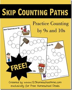 Free Skip Counting Worksheets Printables Set