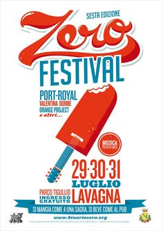 Giovanni Montuori, a graphic designer and illustrator from Genova, Italy, created flyers and posters for the Zero Festival.