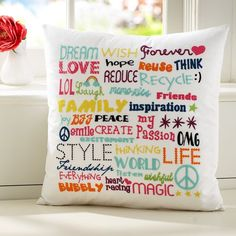 Dream Wish Forever Organic Pillow Cover  $29.00