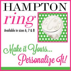Available this week for $19.99 at The Preppy Pair. Our FABULOUS Hampton Ring. Available in 3 sizes Get yours at https://www.thepreppypair.storenvy.com
