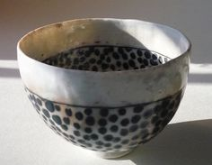 Pinched porcelain bowl by woodfirer, via Flickr