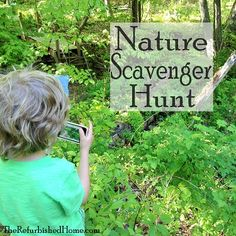 Nature Scavenger Hunt- taking photographs, not items
