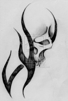tribal skull tattoos - Google Search