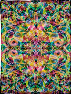 !neon psychedelic! Carnovsky RGB Silk Scarves Collection