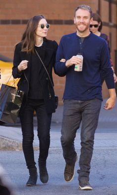 Rooney Mara walks with boyfriend Charlie McDowell on Tuesday in New York.