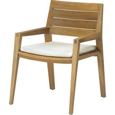 McGuire Furniture: Axial Dining Arm Chair: No. TK-243-CLR
