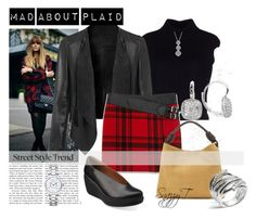 """""""Fall Plaids"""" by tamt-shop ❤ liked on Polyvore featuring Dsquared2, Yves Saint Laurent, Clarks, Loewe, John Hardy, Christian Dior, Fall, casual and leatherjacket"""