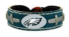 Philadelphia Eagles Team Color Football Bracelet