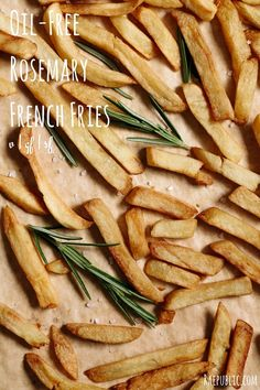 Easy, 4 ingredient oil-free rosemary french fries that are super healthy and delicious. These naturally vegan rosemary french fries are gluten-free and sugar-free so all can enjoy! Did you know that russet potatoes are an excellent source of vitamin B-6 and potassium?