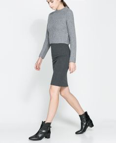 ZARA - WOMAN - FAUX LEATHER TUBE SKIRT | Missy Swag | Pinterest ...