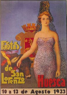 Fiestas de San Lorenzo, año 1933 Huesca  Spain