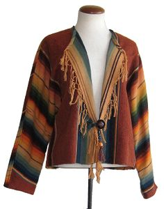 Karen Wilkinson Jacket New Mexico Style, Native Style, Altering Clothes, Wrap Coat, Native American Fashion, Southwestern Style, Clothes Horse, Wearable Art, Bohemian Style