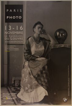 Strikingly draped in textured cloth and jewelry, Frida Kahlo calls us to her. Date: 2003 Country: France