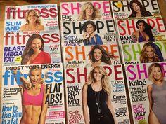 Lot of 11 Magazines 8 Shape 3 Fitness Magazine 2011 2012 2015 2016 | eBay