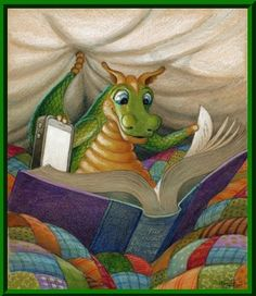 A Little Light Reading ~ from The Randal Spangler collection of whimsical, colorful artworks