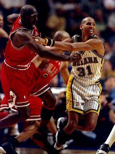 Clayton Binder Reggie Miller vs Michael Jordan Indiana Pacers Basketball Printing wall poster wbp03884 90x120cm