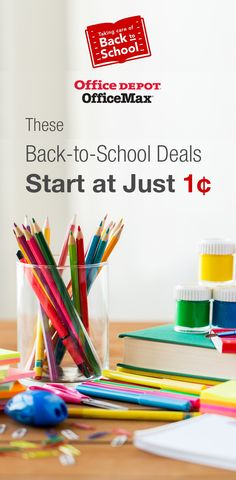 These Back-to-School Deals Start at Just 1¢: https://www.dealsplus.com/Office_deals/p_school-supplies-sale-penny-deals-office-depot?utm_content=buffer1f2d1&utm_medium=social&utm_source=pinterest.com&utm_campaign=buffer