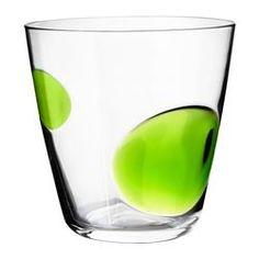 "FABULÖS glass, green Height: 4 "" Volume: 10 oz Height: 9 cm Volume: 30 cl"