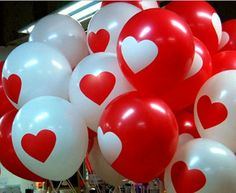 20 Pcs Party Balloons Birthday Wedding Celebration Decoration Balloon White/Red