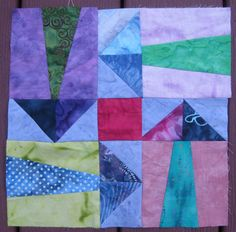 Help! I can't stop piecing improvisational arrows! Includes a tutorial.