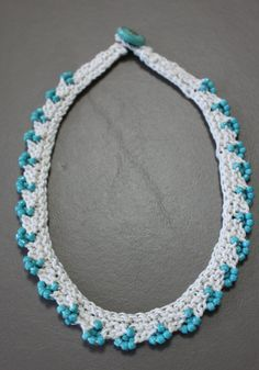 """NOTE: This listing is for a pattern to make your own Maya Necklace    This beautiful beaded necklace is as easy to knit as it is to wear. Perfect for summer and spring knitting, but just as fun to give as holiday gifts, these necklaces knit up in a snap and use up leftover odds and ends. Win-win!    Pattern is written for sizes 15.5, 17, and 18.5"""" necklace lengths.    Yarn: Sport weight yarn 10-14 yards    Needles: US 3 knitting needles    Beads: 150 size 6 seed beads Additional materials…"""