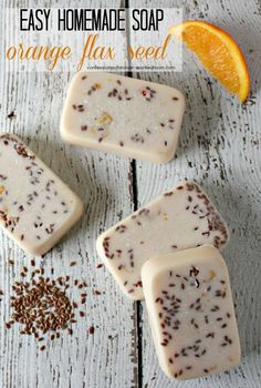 Easy Soap Making | Orange Flaxseed Soap