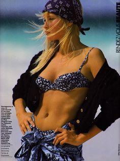 Elle France 3rd August 1987 Estelle Ph: Gilles Bensimon Model: Estelle Lefebure Hair: Yannick d'Is Makeup: Marie-Jose Lafontaine Styling: Anne-Claire Bancilhon