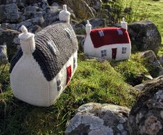 The Red Roof Croft house by Hand Knitted Things, via Flickr