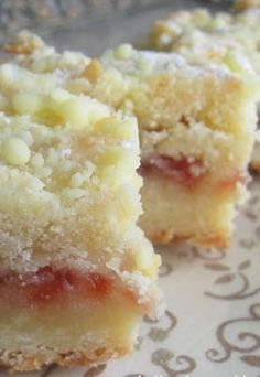 Recipe For Raspberry Shortbread - Simple to make, simple ingredients, and rich and delectable. A great dessert to bring along to a dinner party or potluck.