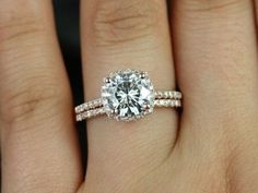 Gorgeous ring with a small halo