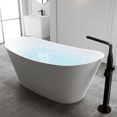 Badkar Bathlife Ideal Relax Vit Matt 1700x810mm   Stonefactory.se Bathtub, Relax, Bathroom, Design, Tripod, Standing Bath, Washroom, Bathtubs, Bath Tube
