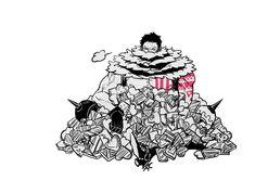 Katakuri, One Piece One Piece Big Mom, One Piece Meme, Watch One Piece, One Piece Funny, One Piece Comic, One Piece Fanart, Anime Nerd, Anime Manga, Big Mom Pirates