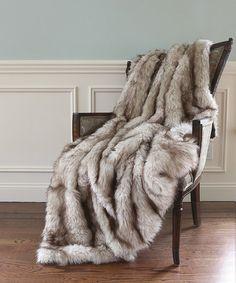Look at this #zulilyfind! Champagne Faux Fur Throw by Best Home Fashion #zulilyfinds