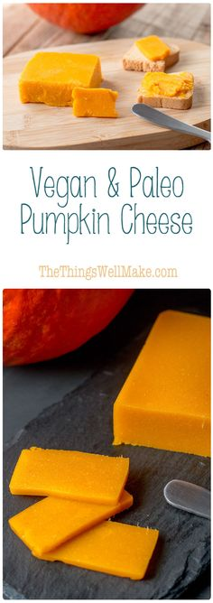 With it's beautiful natural orange color befitting of cheddar, this paleo vegan pumpkin cheese is a fun and healthy way to enjoy pumpkins and butternut squash. You can also use my tips to make other types of vegetable cheese like parsnip cheese.