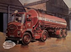 Vintage Trailers, Vintage Trucks, Old Trucks, Classic Trucks, Classic Cars, Old Lorries, Road Transport, Air Fighter, Truck Art